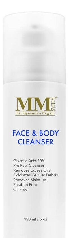 Очищающий гель-пилинг для лица и тела с гликолевой кислотой Face & Body Cleanser Gel 20%: Гель-пилинг 150мл химический пилинг гликолевой кислотой