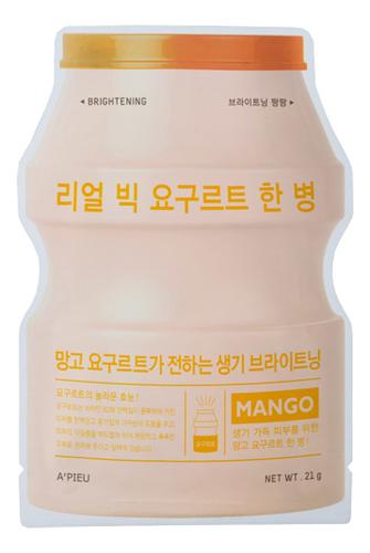 Тканевая маска для лица Real Big Yogurt One Bottle Mango 21г (йогурт и манго)
