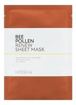 Обновляющая тканевая маска для лица Bee Pollen Renew Sheet Mask 25мл