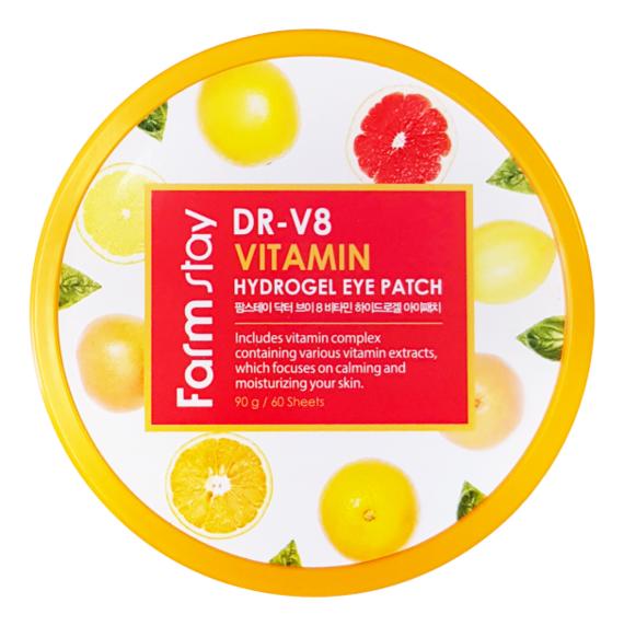 Гидрогелевые патчи для области вокруг глаз DR-V8 Vitamin Hydrogel Eye Patch 60шт