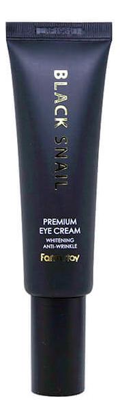 Купить Крем для кожи вокруг глаз с муцином черной улитки Black Snail Premium Eye Cream 50мл, Farm Stay