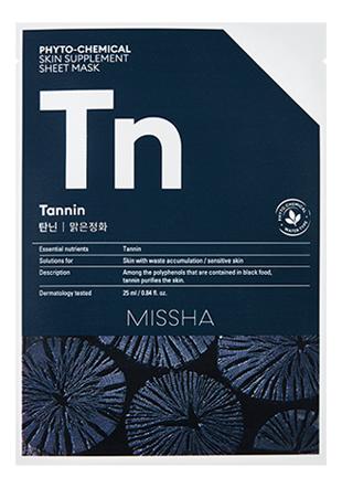 Тканевая маска для лица Phyto-Chemical Skin Supplement Sheet Mask Tannin 25мл