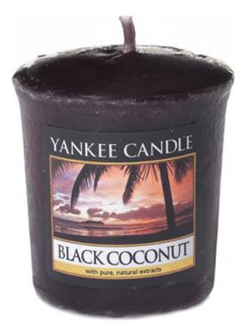 Купить Ароматическая свеча Black Coconut: Свеча 49г, Yankee Candle