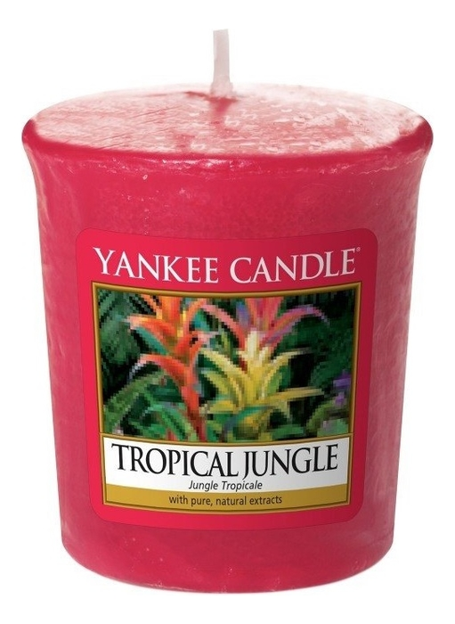 Купить Ароматическая свеча Tropical Jungle: Свеча 49г, Yankee Candle