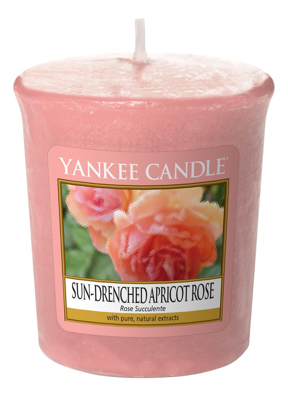 Ароматическая свеча Sun-Drenched Apricot Rose: Свеча 49г фото
