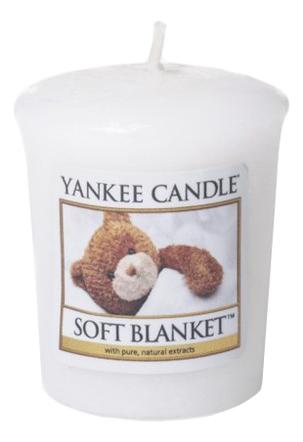 Купить Ароматическая свеча Soft Blanket: Свеча 49г, Yankee Candle