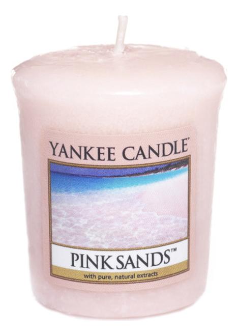 Купить Ароматическая свеча Pink Sands: Свеча 49г, Yankee Candle