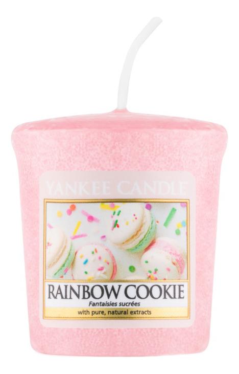 Купить Ароматическая свеча Rainbow Cookie: Свеча 49г, Yankee Candle