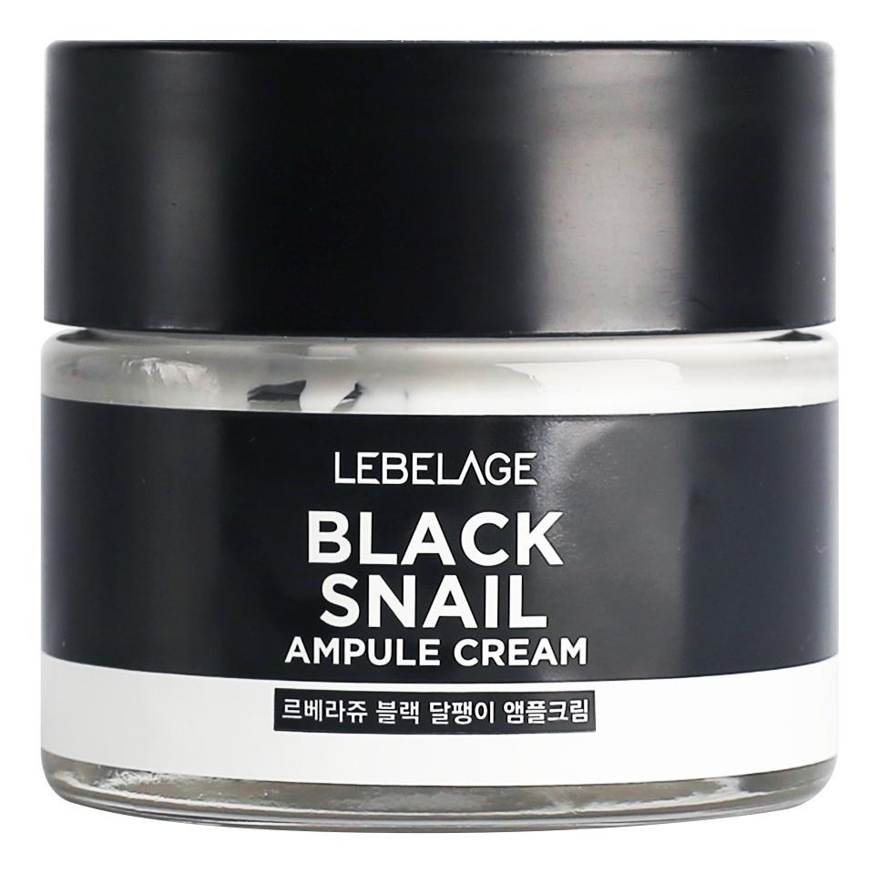 Ампульный крем для лица с муцином черной улитки Black Snail Ampule Cream 70мл недорого