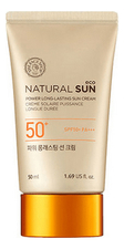 The Face Shop Солнцезащитный крем для лица Natural Sun Eco Power Long-Lasting Sun Cream SPF50+ PA+++ 50мл