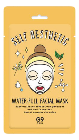 Тканевая маска для лица увлажняющая G9 Skin Self Aesthetic Water-Full Facial Mask 23мл
