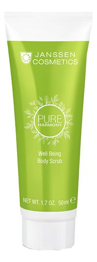 Тонизирующий скраб для тела с экстрактом белого чая Pure Harmony Well Being Body Scrub 50мл janssen cosmetics pure secrets