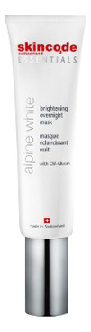 Купить Осветляющая ночная маска для лица Essentials Alpine White Brightening Overnight Mask 50мл, Skincode