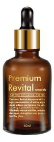 Купить Ревитализирующая сыворотка для лица Premium Revital Ampoule 50мл, ELLEVON