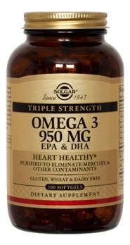натуральный соевый лецитин 100 капсул solgar специальные добавки Биодобавка Тройная Омега-3 Triple Strength Omega 3 EPA & DHA: 100 капсул