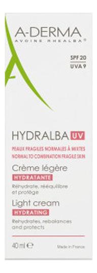 Насыщенный увлажняющий крем для лица Hydralba UV Rich Hydrating Cream SPF20 40мл насыщенный увлажняющий крем для лица hydralba uv rich hydrating cream spf20 40мл