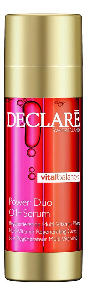 Двухфазное восстанавливающее средство для лица Vital Balance Power Duo Oil + Serum 40мл недорого