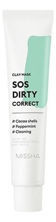 Купить Очищающая глиняная маска для лица SOS Dirty Correct Clay Mask 60мл, Missha