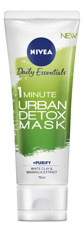 Очищающая маска для лица Daily Essentials 1 Minute Urban Detox Mask +Purefiy 75мл nivea маска увлажнение и детокс urban detox за 1 минуту 75 мл