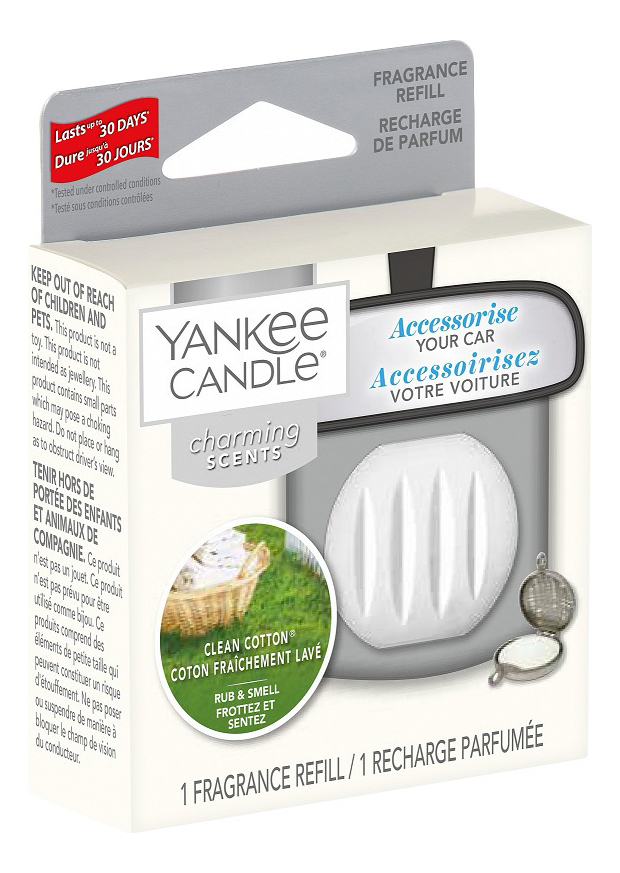 Ароматический брелок для машины Квадрат Clean Cotton Charming Scents: Сменная пластина
