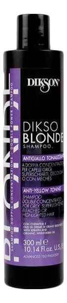 Тонирующий шампунь против желтизны волос Dikso Blonde Shampoo Anti-Yellow Toning: Шампунь 300мл