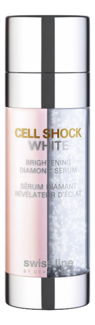 Осветляющая сыворотка для лица Cell Shock White Brightening Diamond Serum 40мл swissline cell shock white hd осветляющая освежающая маска cell shock white hd осветляющая освежающая маска