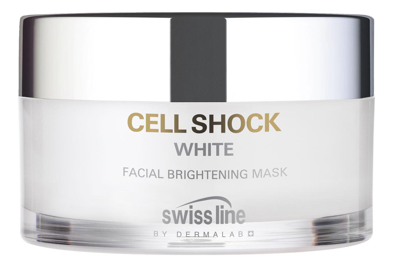 Осветляющая освежающая маска для лица Cell Shock White Facial Brightening Mask 50мл swissline cell shock white hd осветляющая освежающая маска cell shock white hd осветляющая освежающая маска