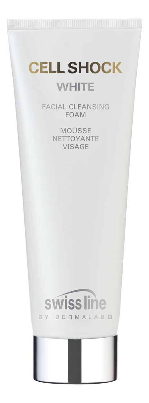 Осветляющий очищающий мусс для лица Cell Shock White Facial Cleansing Foam 150мл