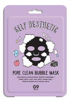 Тканевая маска для лица G9 Skin Self Aesthetic Pore Clean Bubble Mask 23мл