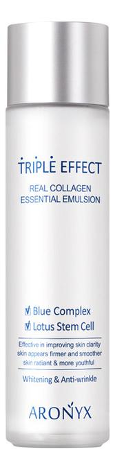 Купить Эмульсия для лица Тройной эффект с морским коллагеном Aronyx Triple Effect Real Collagen Essential Emulsion 150мл, Medi Flower