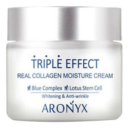 Купить Крем для лица Тройной эффект с морским коллагеном Aronyx Triple Effect Real Collagen Moisture Cream 50мл, Medi Flower