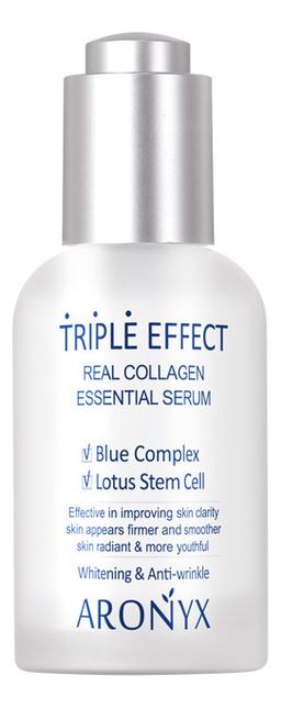Купить Сыворотка для лица Тройной эффект с морским коллагеном Aronyx Triple Effect Real Collagen Serum 50мл, Medi Flower