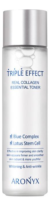 Купить Тонер для лица Тройной эффект с морским коллагеном Aronyx Triple Effect Real Collagen Toner 150мл, Medi Flower