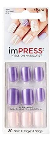 Накладные ногти Фиалка Impress Manicure Power Up BIPA016 30шт (длина короткая)