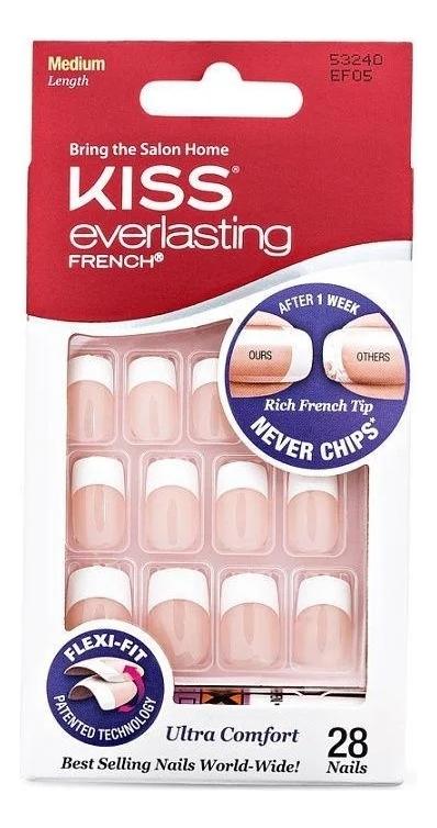 цена на Накладные ногти Ультра стойкий французский маникюр Everlasting French EF05 28шт