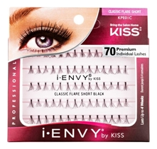 Kiss Накладные пучки Классика I Envy Individual Lashes Classic Short Black 70шт