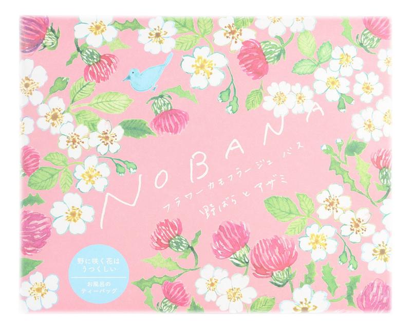 Увлажняющая соль-саше для ванн Nobana 30г (дикая роза и чертополох)
