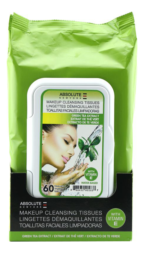 Салфетки для снятия макияжа Make-Up Cleansing Tissues Green Tea Extract 60шт 1kg 100% natural green tea extract 60%