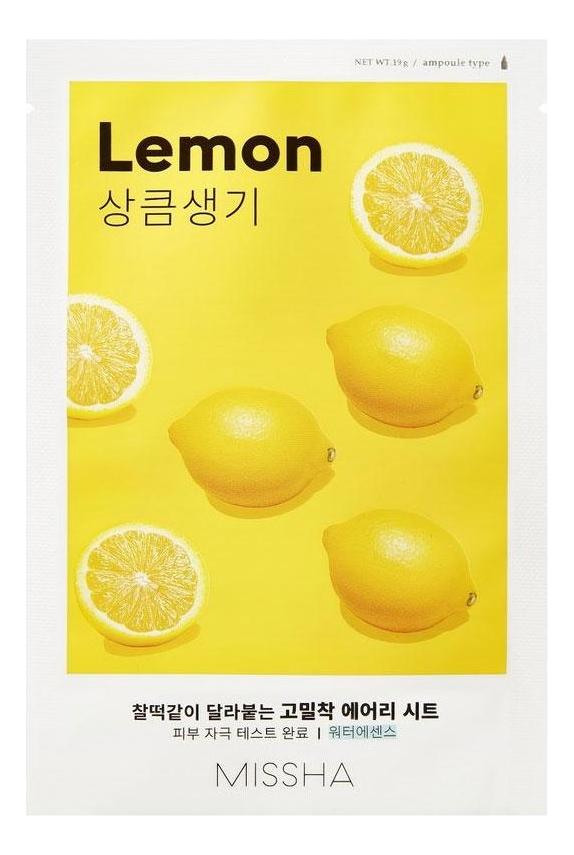 Фото - Тканевая маска для лица с экстрактом лимона Airy Fit Sheet Mask Lemon 19г тканевая маска для лица с экстрактом зеленого чая airy fit sheet mask green tea 19г