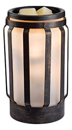 Аромасветильник настольный Хамптон металл и стекло Hampton Metal Glass