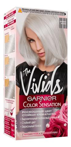 Купить Крем-краска для волос Color Sensation Vivids 100мл: Платиновый металлик, GARNIER