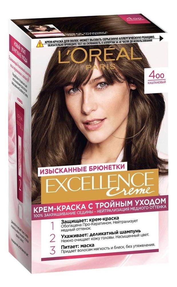 Крем-краска для волос Excellence Creme 192мл: 400 Каштановый крем excellence