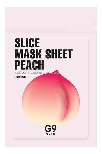 Маска-слайс для лица тканевая осветляющая G9 Skin Slice Mask Sheet Peach 10мл (персик)