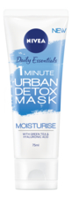 NIVEA Маска для лица Daily Essentials 1 Minute Urban Detox Mask Moisturise 75мл