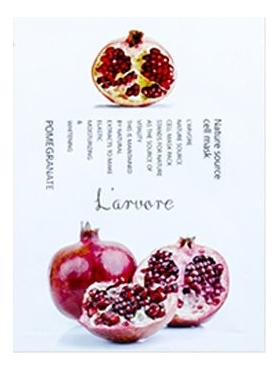Тканевая маска для лица с экстрактом граната Nature Source Cell Mask Pomegranate 25г: Маска 1шт тканевая маска для лица с экстрактом граната fresh pomegranate mask sheet