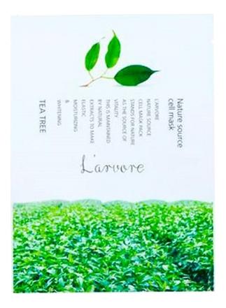 Тканевая маска для лица с экстрактом зеленого чая Nature Source Cell Mask Tea Tree 25г: Маска 1шт фото