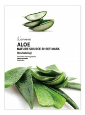 L'arvore Тканевая маска для лица с экстрактом алоэ веры Nature Source Cell Mask Aloe 25г