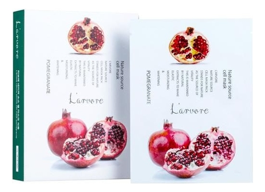 Тканевая маска для лица с экстрактом граната Nature Source Cell Mask Pomegranate 25г: Маска 5шт тканевая маска для лица с экстрактом граната fresh pomegranate mask sheet