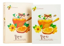 L'arvore Тканевая маска для лица с медом и пептидами Honey Butter Mask Pack 25г