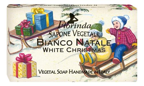 где купить Натуральное мыло Merry Christmas Bianco Natale 100г: Мыло 100г дешево